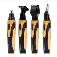 4 en 1 nez électrique oreille Tondeuse rechargeable Barbe Sourcils Tondeuse électrique nez oreille rasoir cheveux Cliper chaud