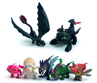 7pcs / set Cómo entrenar a tu dragón 3 PVC Figure Toys Hiccup Cráneo sin dientes Gronckle Deadly Nadder Night Fury Dragon Figuras