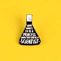 عالم الحاويات الكيميائية بروش الأسود قياس كأس بيكر الذي يريد أن يكون أميرة دبابيس للعمال البحث العلمي