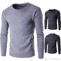 겨울 남자의 캐시미어 스웨터 남성 크루 넥 울 풀오버 스웨터 단색 정통 최고의 남성 점퍼 옴므 플러스 크기 M-2XL 당겨