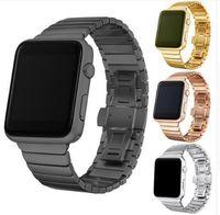 Lüks Paslanmaz Çelik Iwatch Band Serisi Için 4 3 2 1 Paslanmaz Metal Kayış Apple İzle 42mm 38mm 40mm 44mm Kordonlu Saat T190620