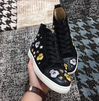 حمراء 2018 الشهيرة نيو الرجال مصمم أحذية رياضية أسود العلامة التجارية أسفل الرجل مصمم الأحذية الفاخرة جلد طبيعي والأحذية زوجين السببية