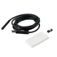 7MM البسيطة USB مجهر 2M 6 LED كابل الأفعى التفتيش Borescope التنظير مع زر الكاميرا قابل للتعديل سطوع 10