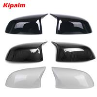 1 paire remplacement miroir en fibre de carbone couverture pour BMW X5 X6 G05 G06 X3 G01 X4 G02 ABS Miroir couverture X5 F15 X6 X3 F16 F25 F26 X4