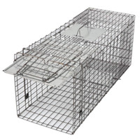 Alive Animal Cage Trap 18in 24in 3in Gabbia Catch Release Humane Rodent Cage Conigli Stray Cat Squirrel Raccoon Mole Gopher Chicken Opossum