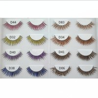 Croce ciglia finte spesse lunghe disordinate Cross Eye Lashes Natural Extension Handmade doppio colore Eye Makeup Tools GGA1762