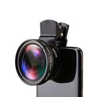 12X lente de la cámara del teléfono telescopio Monocular lente de enfoque largo 0.45X gran angular macro lente Universal para cámara Digital teléfonos móviles