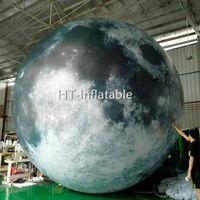 شحن مجاني 10M العائمة العملاقة الهليوم بالون القمر / قابل للنفخ القمر سفير الكرة / قابل للنفخ القمر للدعاية والإعلان
