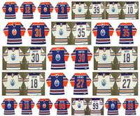 Edmonton Oilers Vintage Jersey 99 Wayne Gretzky 18 CRAIG SIMPSON 27 DAVE Semenko 30 Bill Ranford 18 Mark Napier 35 Andy Moog Hockey Retro