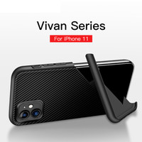 Caja del teléfono del iPhone para el 11 Pro Max XS XR 8 7 de fibra de carbono textura del soporte de la cubierta de TPU para Samsung A51 A71 A81