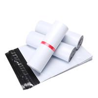100 teile / los Kurier Taschen 17 * 30 cm weiße selbstsiegelkleber Aufbewahrungstaschen Kunststoff Polyumhülle Mailer Postal Mail-Taschen