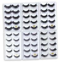 5 pares Mink cílios 3D Falso Maquiagem Lashes Grosso Entrecruzamento pestana Extensão Natural Volume macia Falso Eye Lashes G800 G806