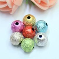 grânulos redondos pulverizar contas rugas pintura DIY jóias 6MM artesanal frisado acessórios de multi-color fábrica de vendas diretas