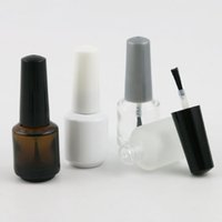 24 x 7ml Empty Nail Polish Bottle Transparent White Amber Fr...