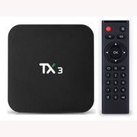 TANIX TX3 Android 9 TV Box 4GB 32GB AMLOGIC S905X3 8K 2.4G 5G WIFI BT4.0 Set Top Stream Media Player