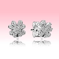 جديد وصول التألق البرسيم مربط القرط الأزياء والمجوهرات مع المربع الأصلي لبندرا 925 فضة هدية الزفاف مجموعة