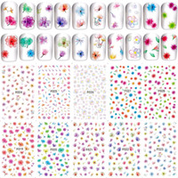 10 blätter ultradünne klebstoff 3d kunst dekoration aufkleber und abziehbilder schönheit blumenmuster nagel liefert werkzeug