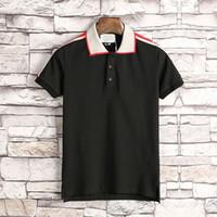 Mens Designer Polo Homens Moda T-shirt bordado da luva Bee Curta Polo Marca Básico Top Streetwear Moda Tees M-3XL