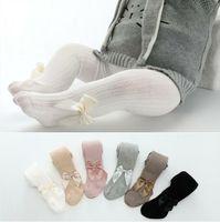 Meninas Leggings Meias bebê bowknot Princesa Socks Crianças Dança justas calças da criança exterior de algodão sólida Causal Calças Stocking BYP303