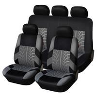 Haft Car Seat Okładki Zestaw Universal Fit Większość samochodów Pokrywy z Opon Szczegóły Szczegóły Stylizacji Auto Wnętrz Dekoracji Siedzenia Samochodowego Protector