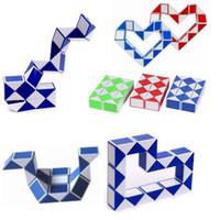 아이 광장 매직 큐브 퍼즐 게임 구불 구불 한 스트레스 구원 투수 뱀 장난감 컬렉션 미니 매직 스네이크 4 colorsCreative 변경 가능