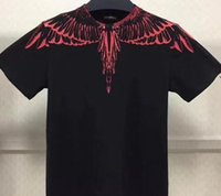 18ss new Marcelo Burlon T-Shirt Uomo Milano Feather Wings T Shirt Uomo Donna Coppia Fashion Show RODEO MAGAZINE Magliette Goros camisetas