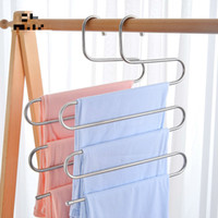 Stainless Steel Trousers Hanger - 5 Layers S Shape Multifunc...