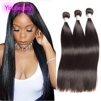 Cheveux humains mongols 3 faisceaux soyeux droites extensions de cheveux vierges non transformés 8-30 pouces droites doubles trames mèches de cheveux mongols