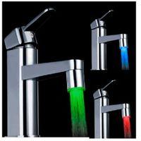 Moda LED Işık Su Musluk Akış Işık 3 Renk değiştirme Sıcaklık Glow Duş Musluk Başkanı Mutfak Sıcaklık Sensörü