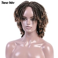 14Inch Dreadlock Curly Synthetic Wigs Medium Ombre Twist Hai...
