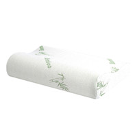 Espuma de memoria almohada para dormir de fibra de bambú Almohadas ortopédicas cervical masaje profundo sueño Almohada para cuello Anti suave ronquido almohadas lavables