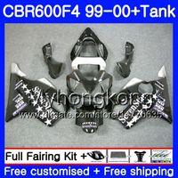 Bodys + Tank HONDA CBR 600 F4 Için FS CBR 600F4 CBR600F4 99 00 287HM.35 Sevenstars siyah CBR600FS CBR600 F4 CBR600 F4 1999 2000 Fairing kiti