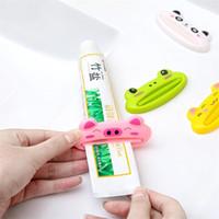 9 * 4cm Cartoon-Tier Kunststoff-Zahnpasta-Quetscher Bad Zahnbürstenhalter Badezimmer Sets Heim Commodity Kreative Küche Accessorie