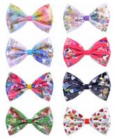 JOJO SWIA bebés arcos del pelo de colores arco iris clips que deslumbra niños del Bowknot del pelo Barrettes Horquilla Headwear de los niños del pelo accesorios A122701
