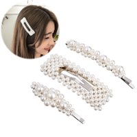 New Metal Imitation Pearl Beads BB Hair Clips for Girls Eleg...