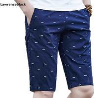 Lawrenceblack Марка мужские шорты Летние мужские пляжные шорты Хлопок повседневные мужские шорты Homme Bermuda Masculina Plus Размер 5XL 979