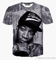 uomini donne cantante hip hop punk rock nuovo Wiz Khalifa 2pac maglietta della maglietta 3d divertente casuali camice di T top vestiti di estate