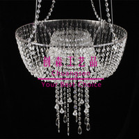 Single Acrylic Crystal Bead Chandelier Fairy Light Cake Stan...
