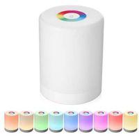 Перезаряжаемый умный светодиодный сенсорный контроль ночной светильник индукция диммер интеллектуальный прикроватный ламп Dimmable RGB изменение цвета с крюком