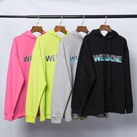 Diseñador para mujer para hombre sudaderas Welldone nueva llegada de manga larga con capucha de color sólido de la manera sudaderas con capucha para mujeres y hombres asiáticos tamaño S-L
