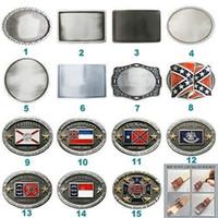 Nueva bandera de época Cosplay en blanco Cinturón Hebilla Combinación de estilos Opción común en EE. UU. Cada hebilla es única Elija su diseño favorito de hebilla
