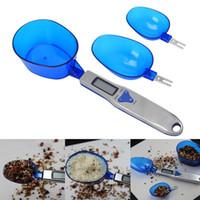 500g / 0.1g Portátil Eletrônico LEVOU Escalas de Medição Colher Diet Food Postal Azul Cozinha Digital Scale Ferramenta de Medição