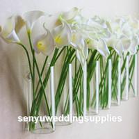 Çiçek yapılan orta Akrilik Silindir Vazo Temizle Yuvarlak Plastik Düğün Masa Yolu Kurşun
