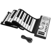 168887440c5 Wholesale keyboards pianos online - Keyboard Digital Foldable Electric Keys  Children Roll Up Flexible Silicone Soft