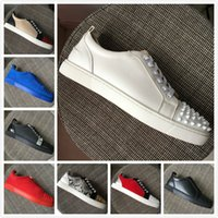 New Fashion Men Women Red Bottoms Shoes White Studded Spikes...