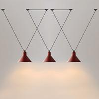 Loft Vintage Luzes Pingente de Ferro Polia Lâmpada Bar Cozinha Decoração Home E27 Edison Light Luminárias Frete Grátis110V `` 260V