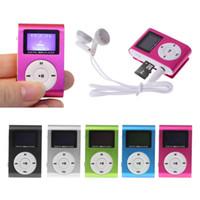 미니 USB 금속 클립 음악 MP3 플레이어 LCD 스크린 MP3 플레이어 지원 FM 32기가바이트 마이크로 SD 카드 슬롯