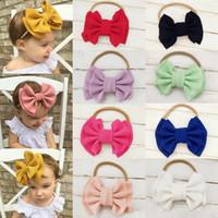 9 Colors Kids Baby Girls Big Bow Hairband Knot Elastic Headband Headband Stretch Turban Knot Head Wrap