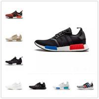 wholesale dealer ef0c8 530b5 Zapatillas de correr Nmd R1 para hombre Mujer nmds Runner OG Zapatillas de  deporte triples Primeknit