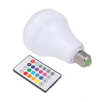 الجديدة بقيادة الشعلة ضوء E27 الذكية سماعات بلوتوث اللاسلكية RGB عزف موسيقى الشعلة مصباح ملون عكس الضوء مع 24 مفاتيح التحكم عن بعد